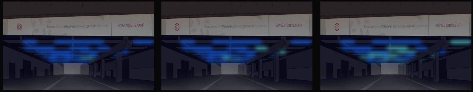 Simulation of the Port de Versailles in Paris.