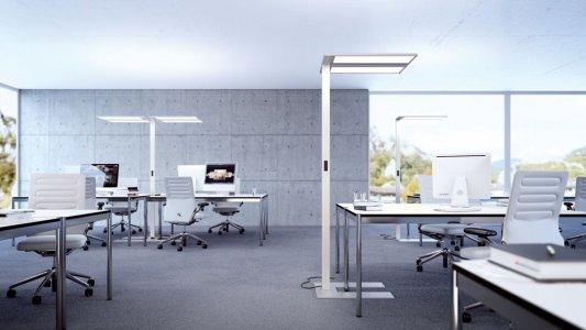 Eine Leuchte in einem Büro.