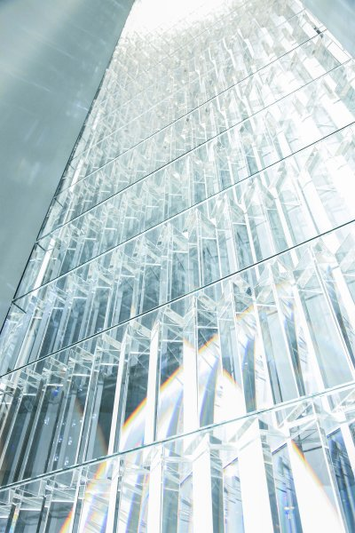 "The glass of the ""Rainbow Church"""