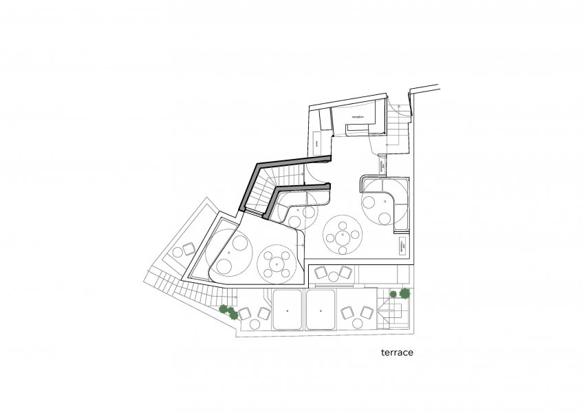 Plan of the terrace at Hotel Andronikos
