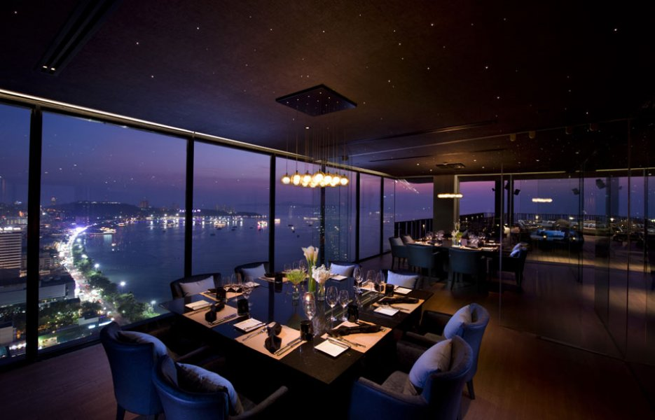 The Sky restaurant.