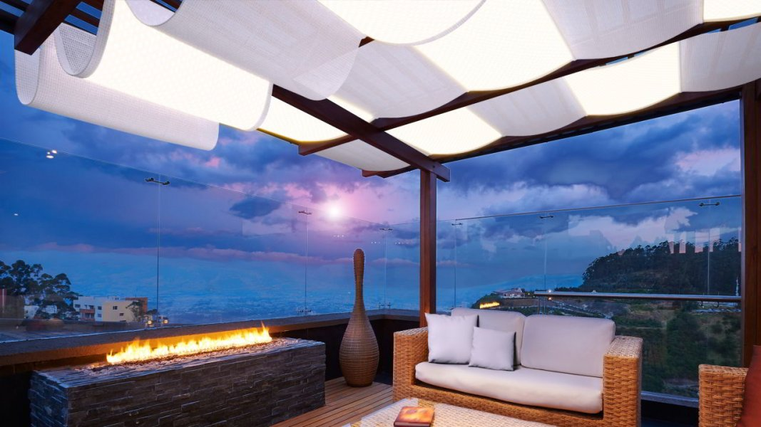 The Carpetlight on a terrace .