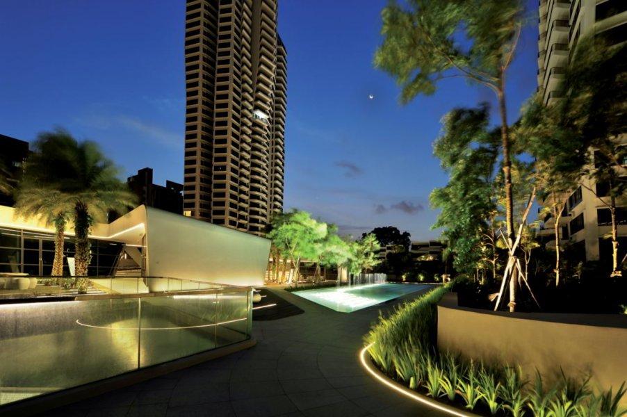 Der geringe Kontrast zwischen Grünflächen und Architektur war wichtig, um die visuelle Kontinuität zu erreichen.