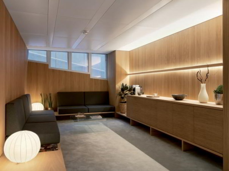 A consulting room in the Entourage beauty clinic Lausanne.