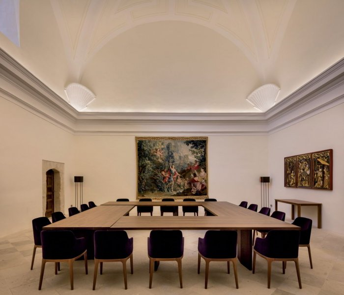 A meeting room.