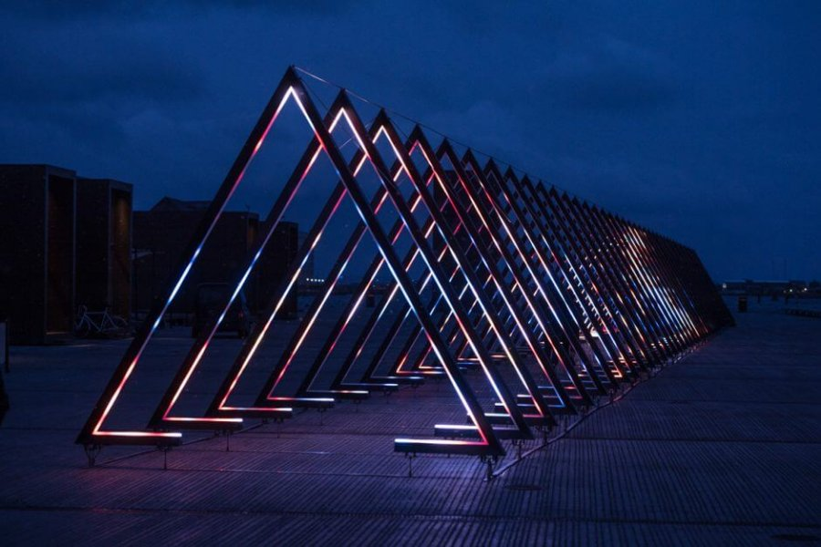"""The Wave"" in Kopenhagen from the front."