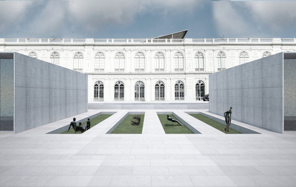 The Garden of the Lima Art Museum.