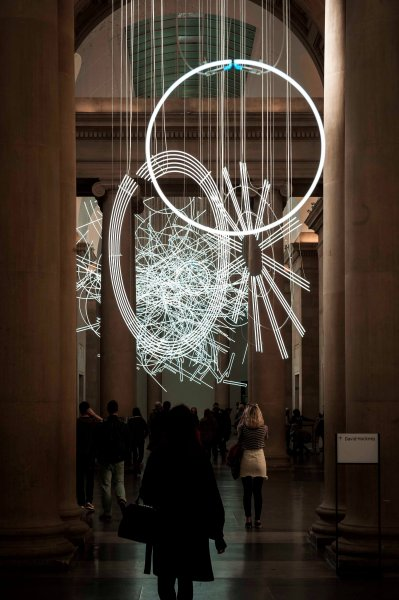 """The """"Forms in Space... by light"""" in Tate Britain."""